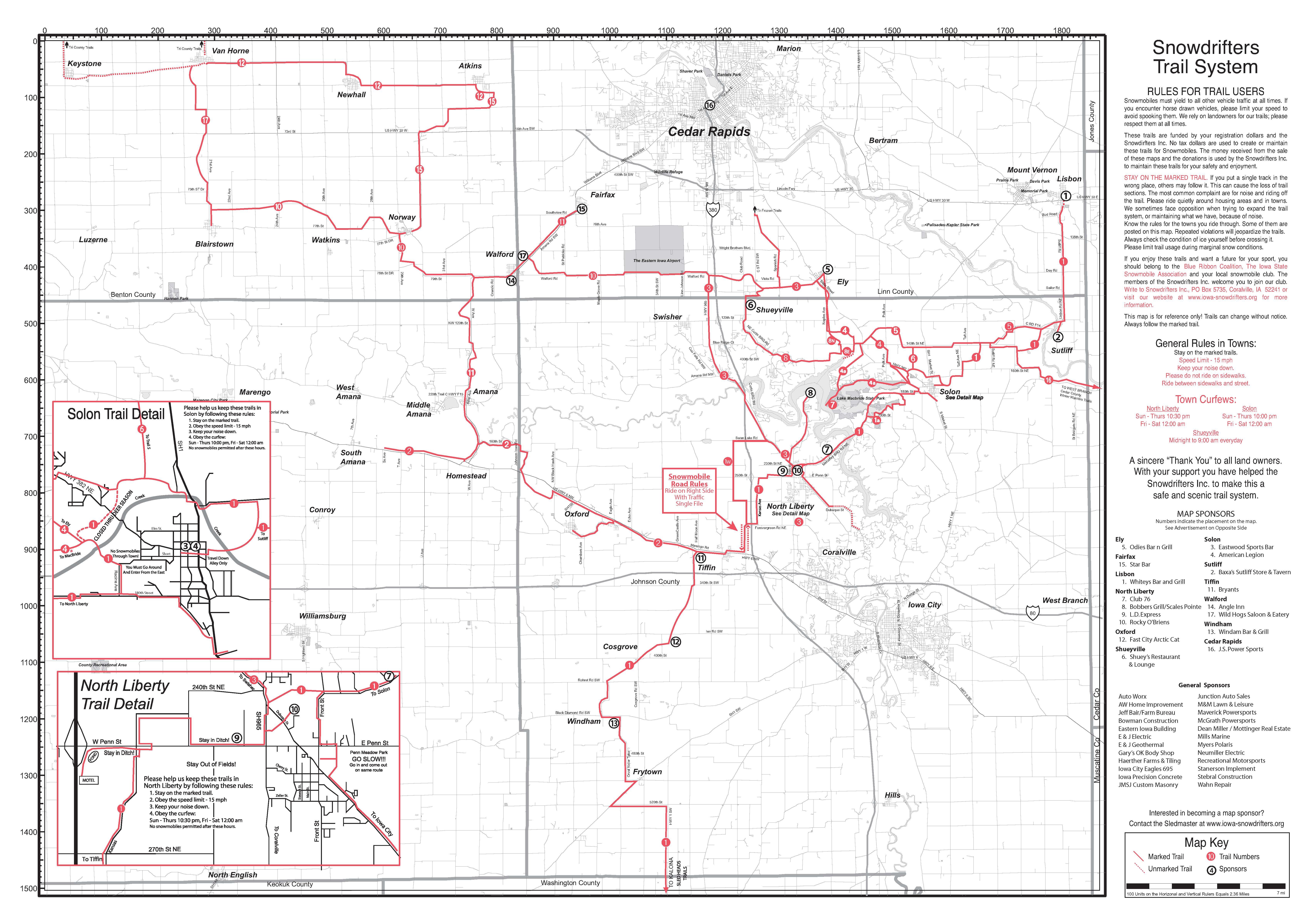 Trail Maps – Iowa Snowdrifters